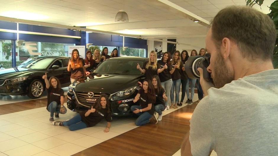 Bild: V12Media, Mikem beim Casting  Autohaus Wederich, Donà AG (Mazda Garage)