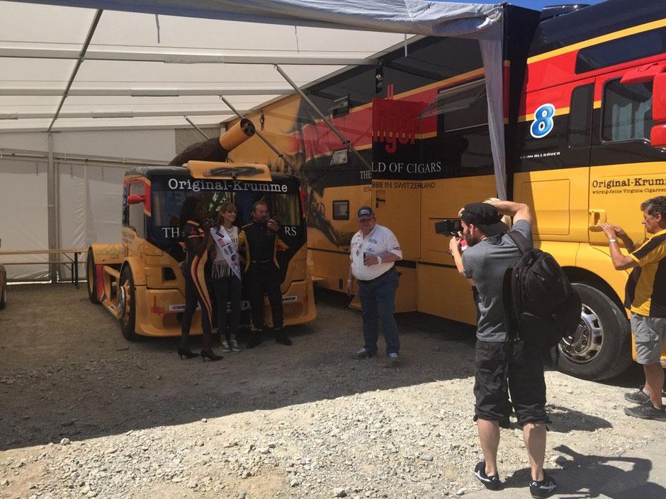 Villiger Cigars Truck am Bergrennen in Reitnau