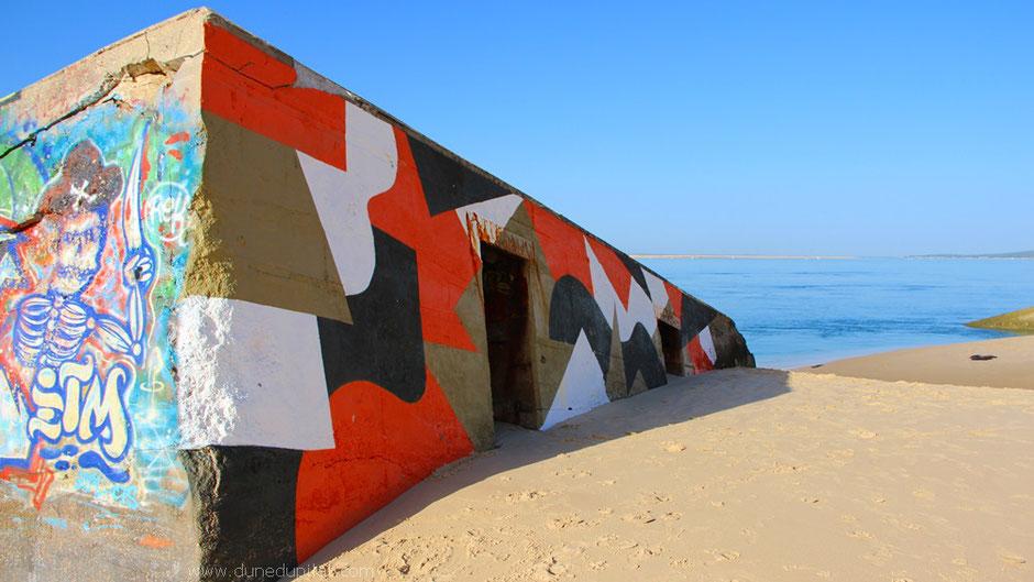 Einer der Bunker südlich der Düne - zwischen Dune du Pilat und Le Petit Nice