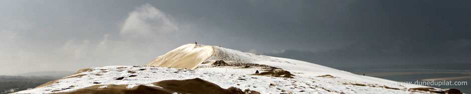 Dune du Pilat neige 2018