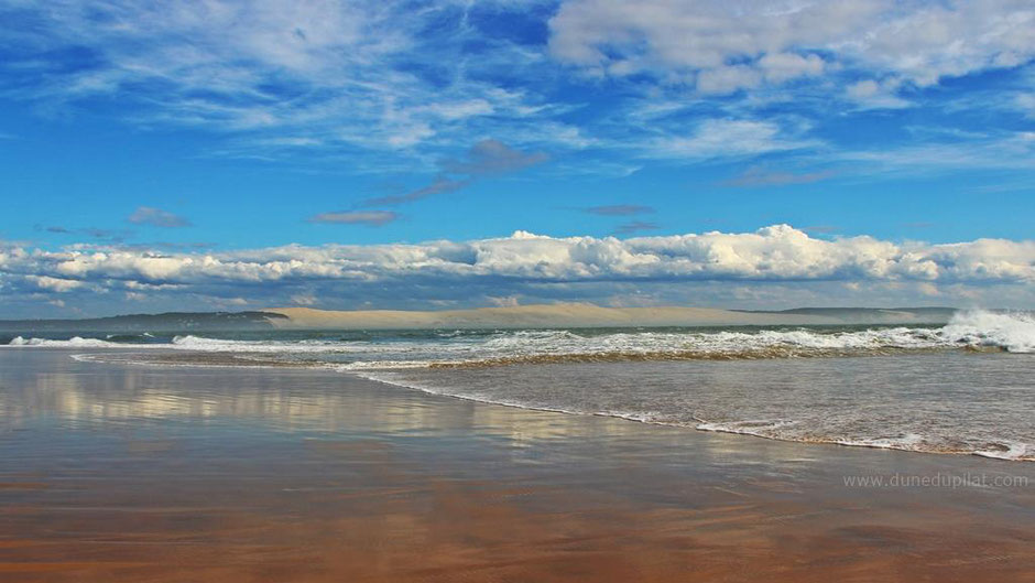 Dune du Pilat - Anblick aus drei Kilometer Entfernung