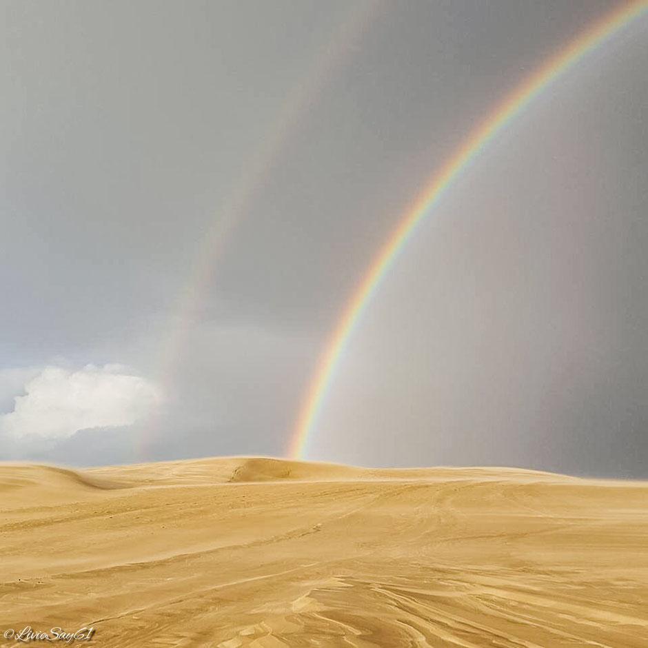 Rainbow above Dune du Pilat / Arc-en-ciel au-dessus de la Dune du Pilat