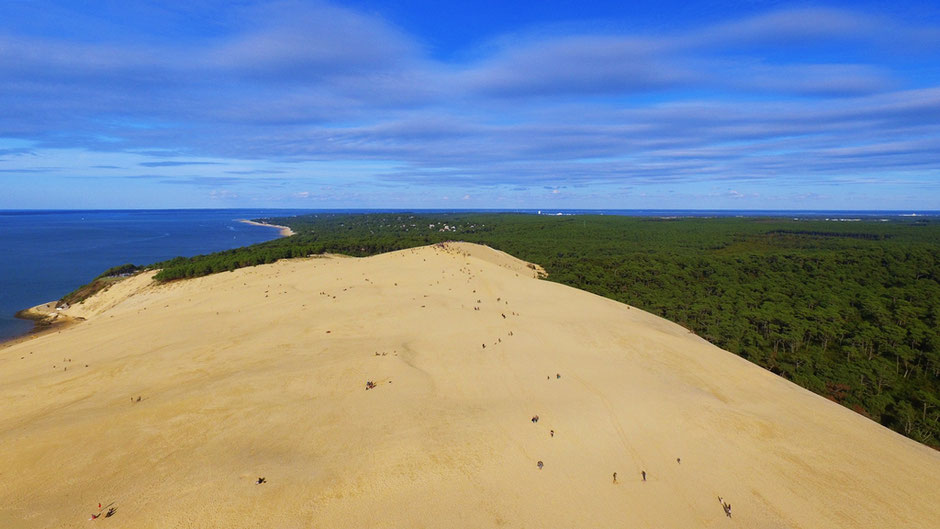 Dune du Pilat - Photo aérienne / Aerial view Crédit photo : Guillaume de Weck