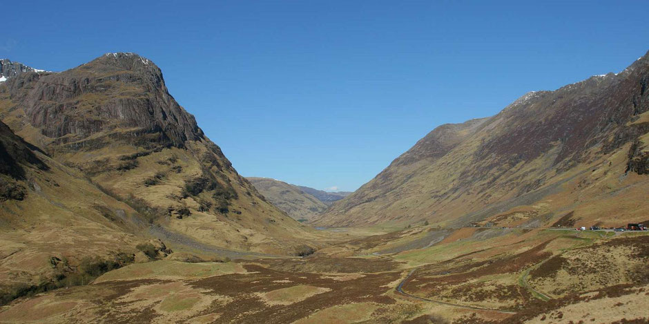 Glen Coe in den schottischen Highlands