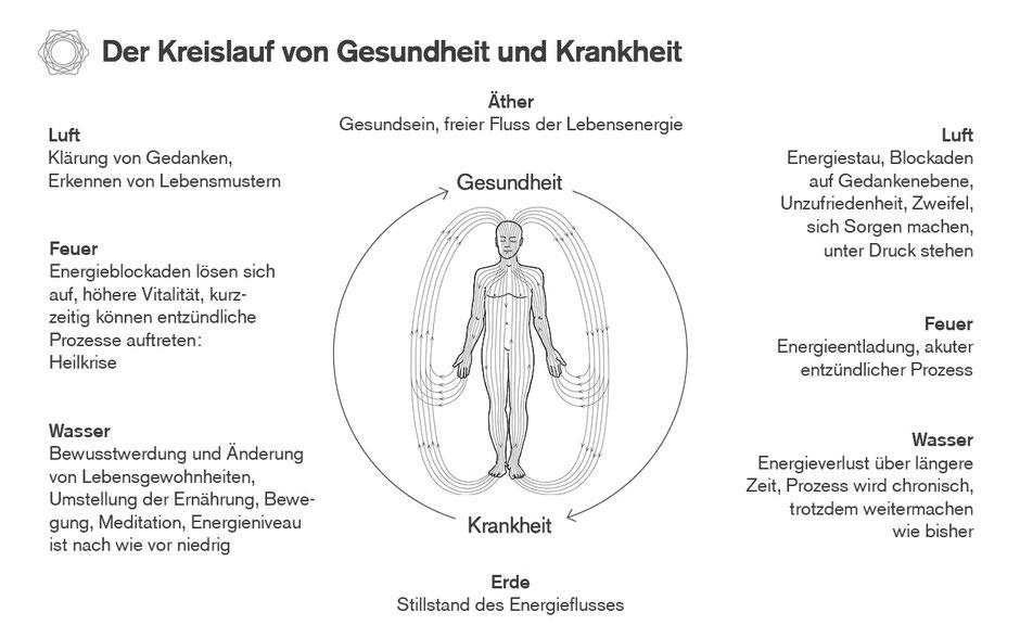 Der Kreislauf von Gesundheit und Krankheit