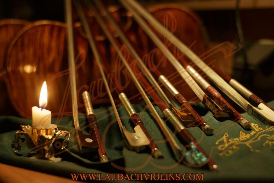 ラウバッハマスタープロのチェロヴァイオリンまたはヴィオラの弓