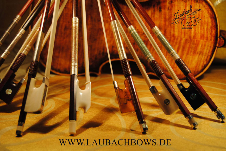 Laubach master bows fane great collection for violin, viola or cello