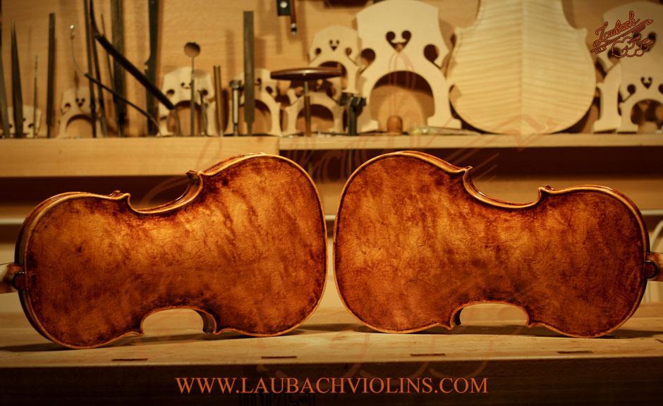 LAUBACH MASTER VIOLIN LTD. EDITION-168V antique BIRDSEYE WOOD