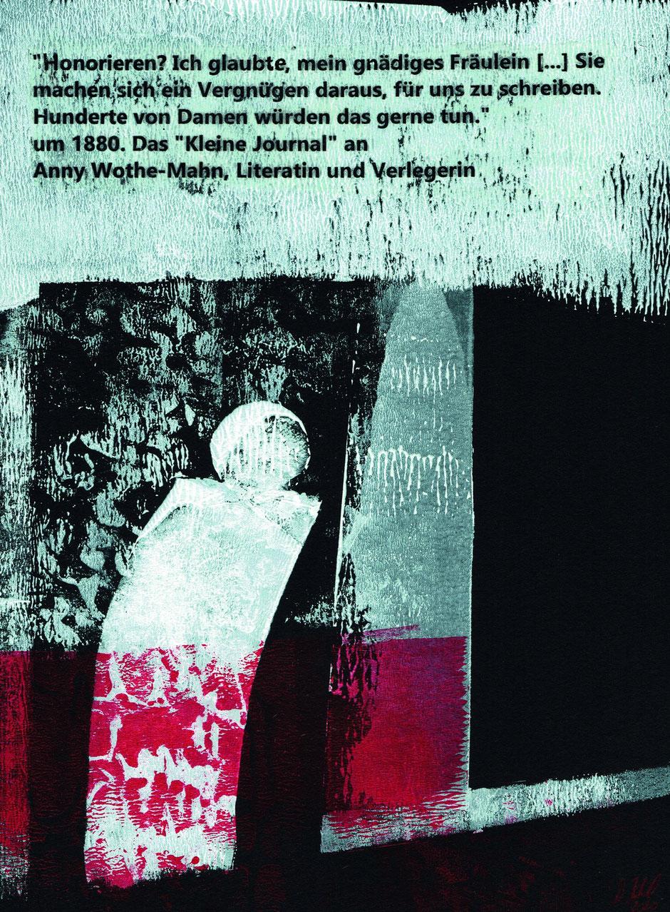 »IN IHRER ZEIT 1–8«, Pochoir-Technik, Transferpatch (Serie), 2020