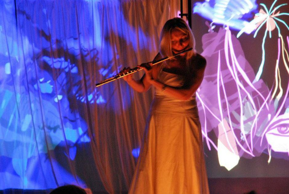 Brunhild Fischer beim LOOPartfestival 2014.