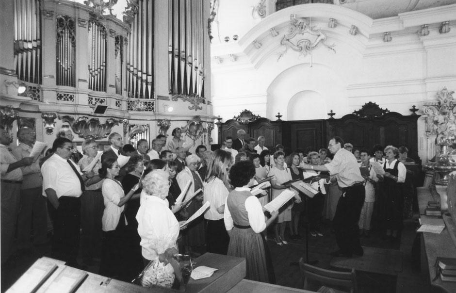 29. Juli 1995: Musikalische Mitgestaltung des Trauungsgottesdienstes des Chorpianisten Max Ginter im Marienmünster in Dießen a. A.