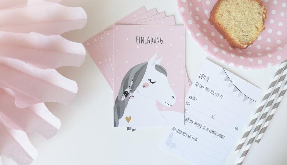 Einladungskarte | Mottoparty -Pferd | Pferdemotiv