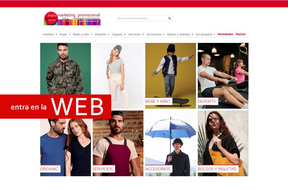 ACCESO A NUESTRA WEB de PUBLICIDAD TEXTIL
