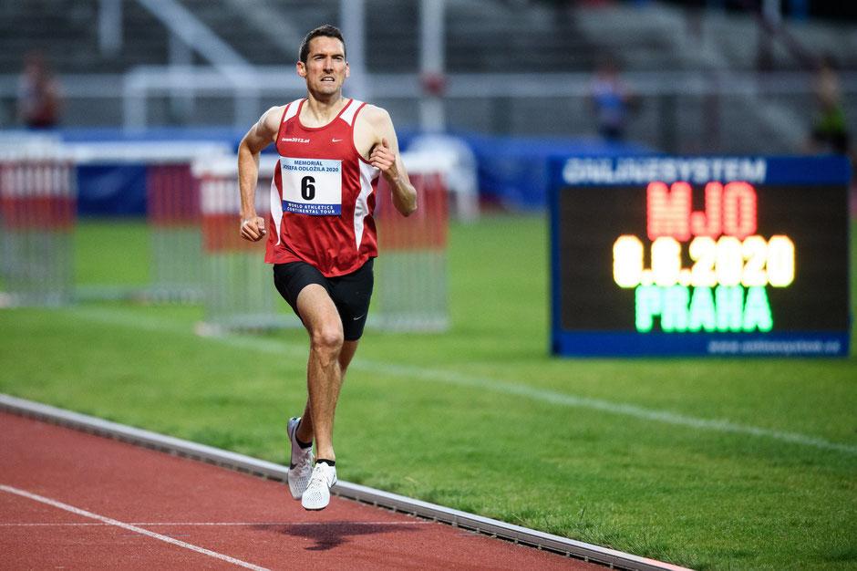Andreas Vojta auf den letzten Metern zum Sieg in Prag! (Foto: Vlastimil Vacek via Olaf Brockmann)
