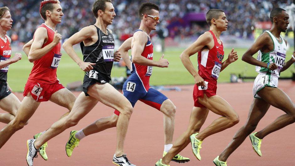Andreas Vojta (Nr. 4) hier bei den Olympischen Spielen in London 2012 über 1500m