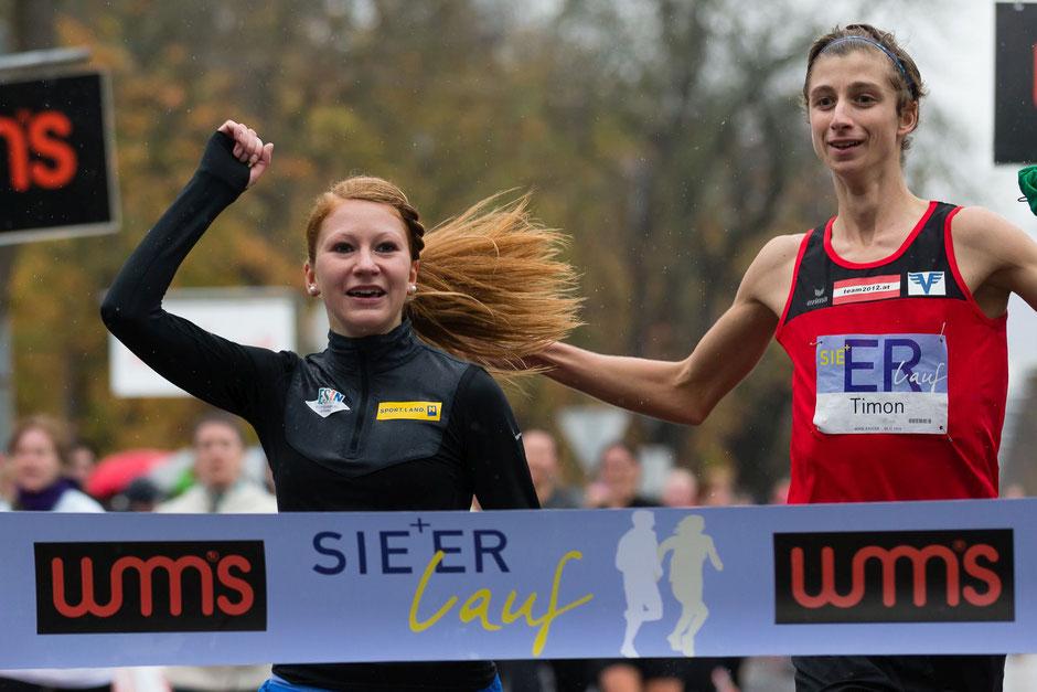 Timon freute sich über den Gesamtsieg in der Er & Sie Lauf Partnerwertung. (Foto: Veranstalter)