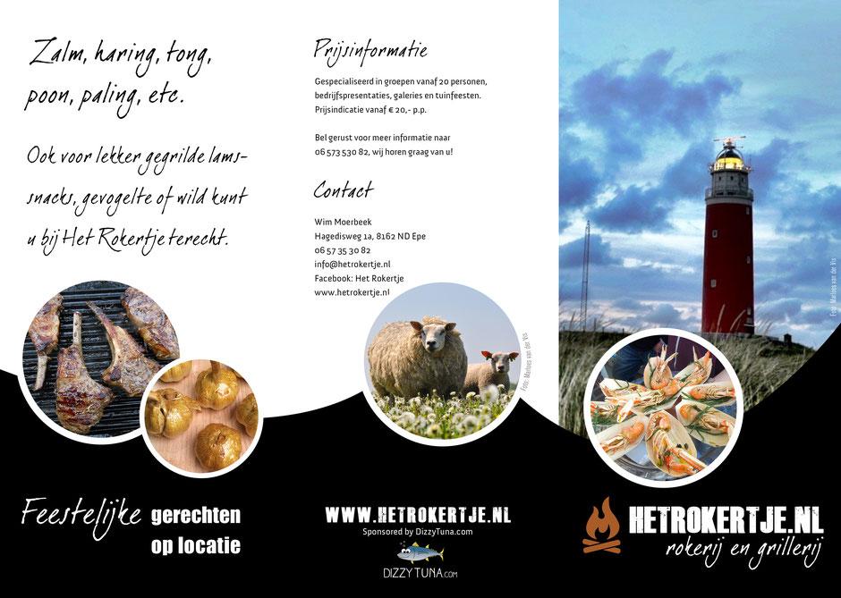 Brochure Hetrokertje.nl rokerij en grillerij