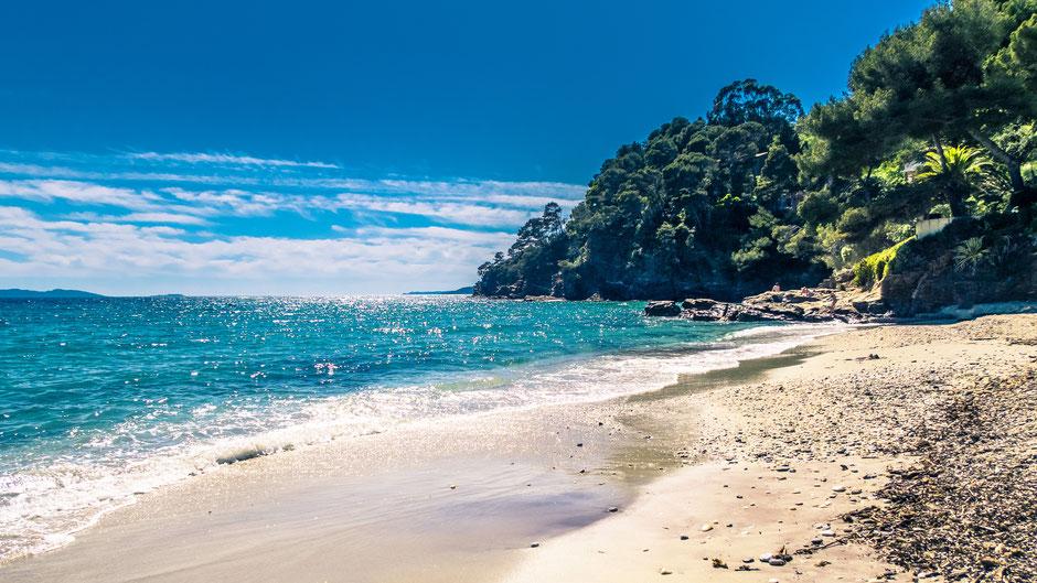Cap-nègre, plage aux sables d'or, Rayol-canadel, Bormes-les-mimosas