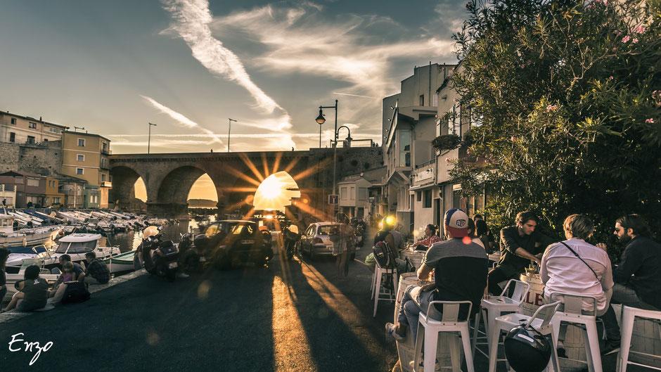 Vallon des auffres - Marseille - Coucher de soleil