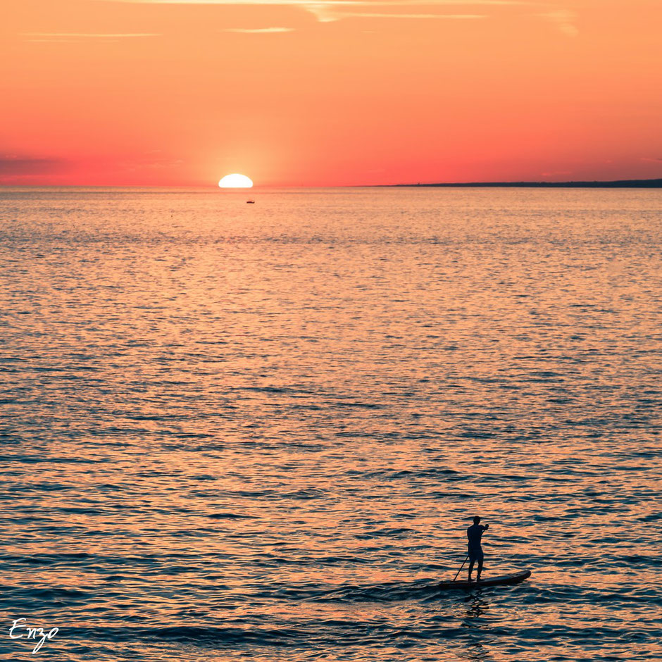 Paddle - Marseille - sunset - alone - zen - fun