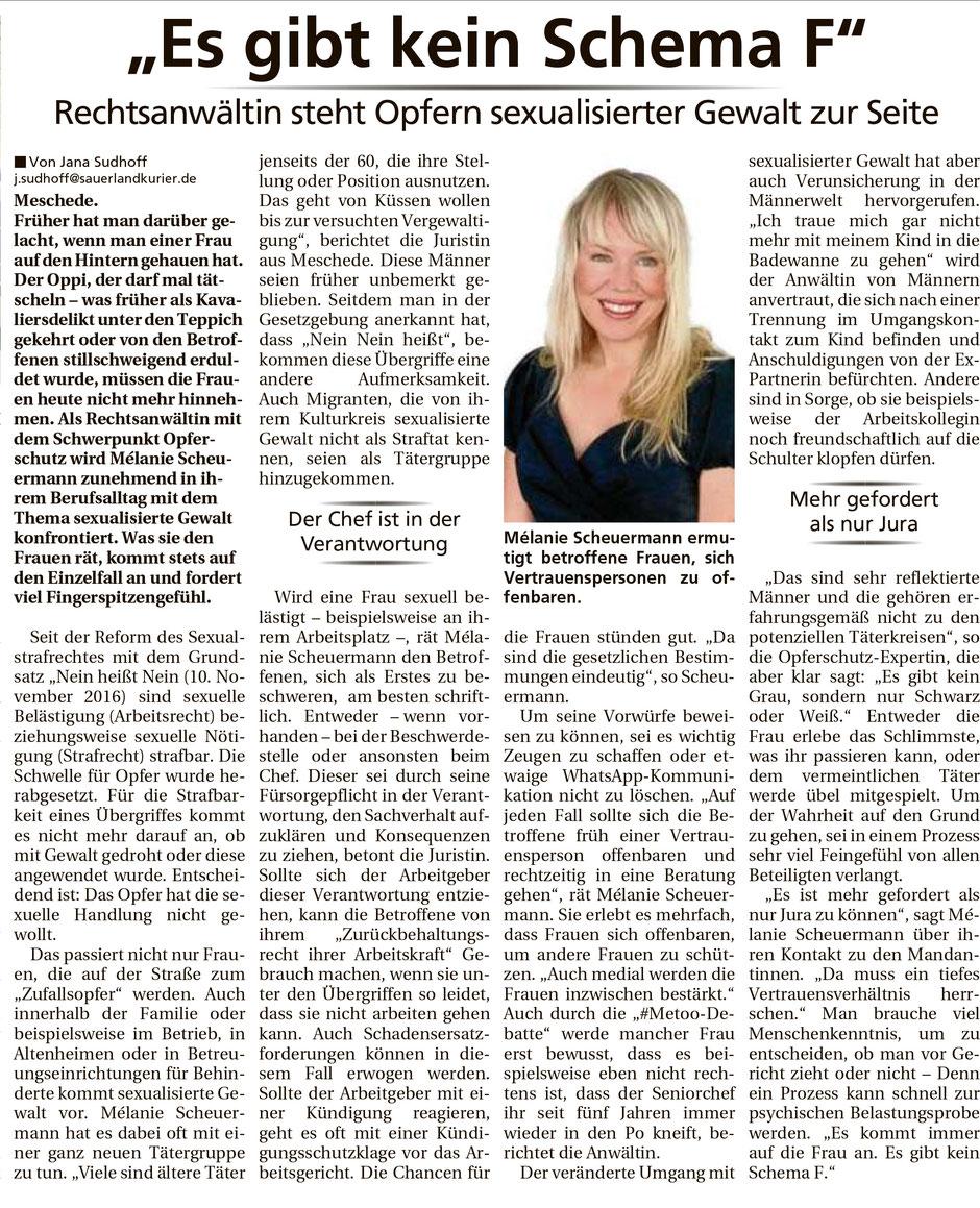 Zeitungsartikel aus dem Sauerlandkurier vom 13.01.2018