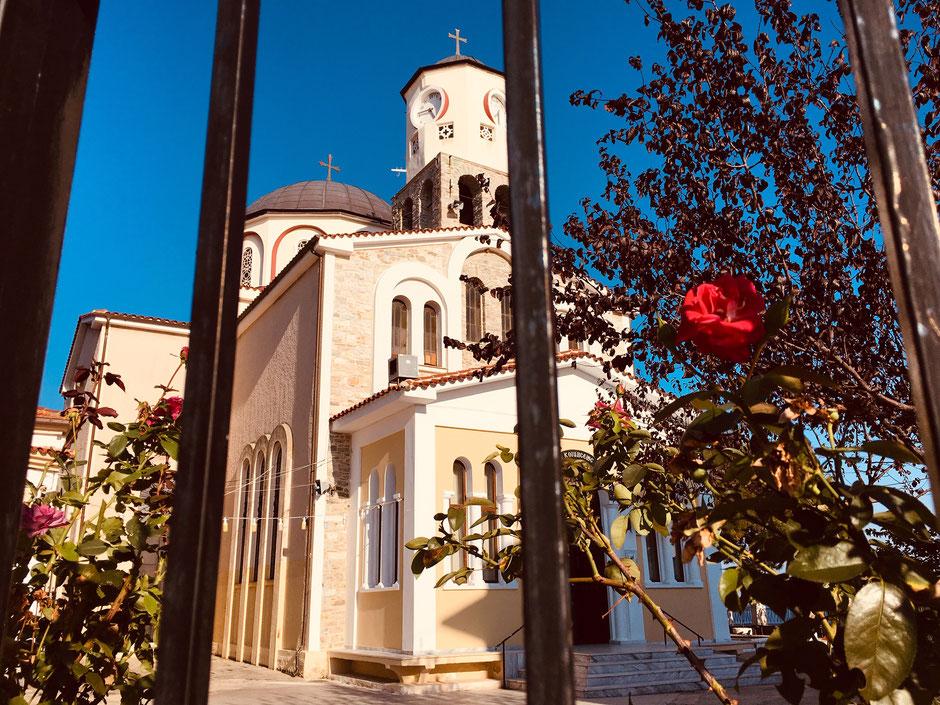 Die Kirche des Heiligen Nikolaus in Kavala Altstadt