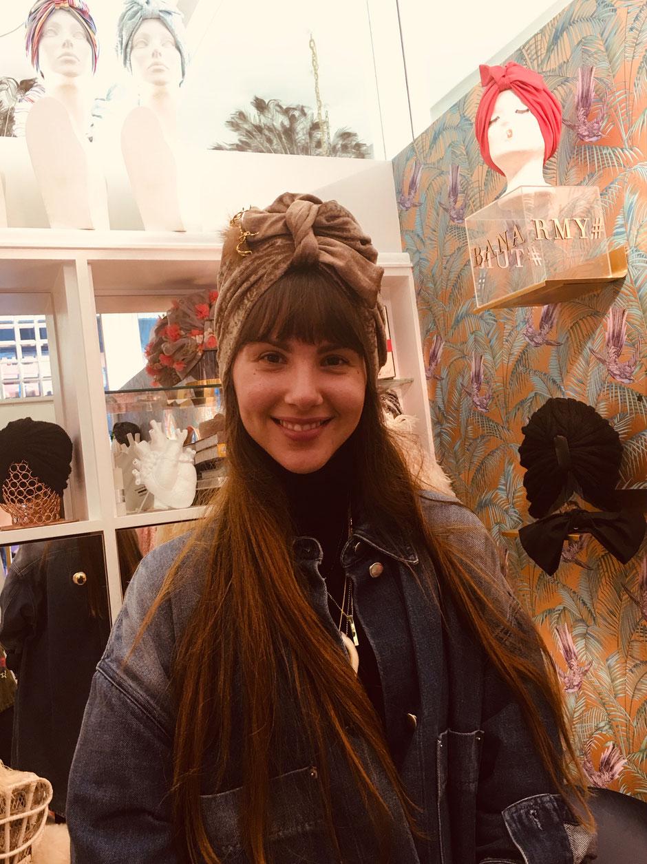 Designerin Blanka in ihrer Boutique in der Bognergasse in Wien