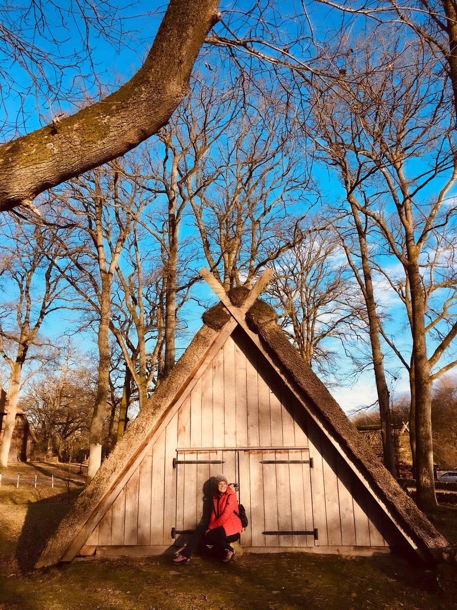 Typische Reetdachhäuser in Wilsede // Foto ©Nicole Hacke