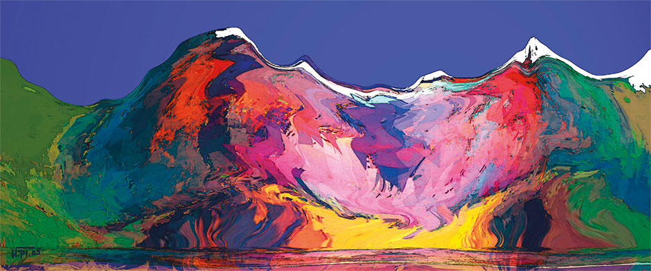 Kunstwerk: Die Alpen