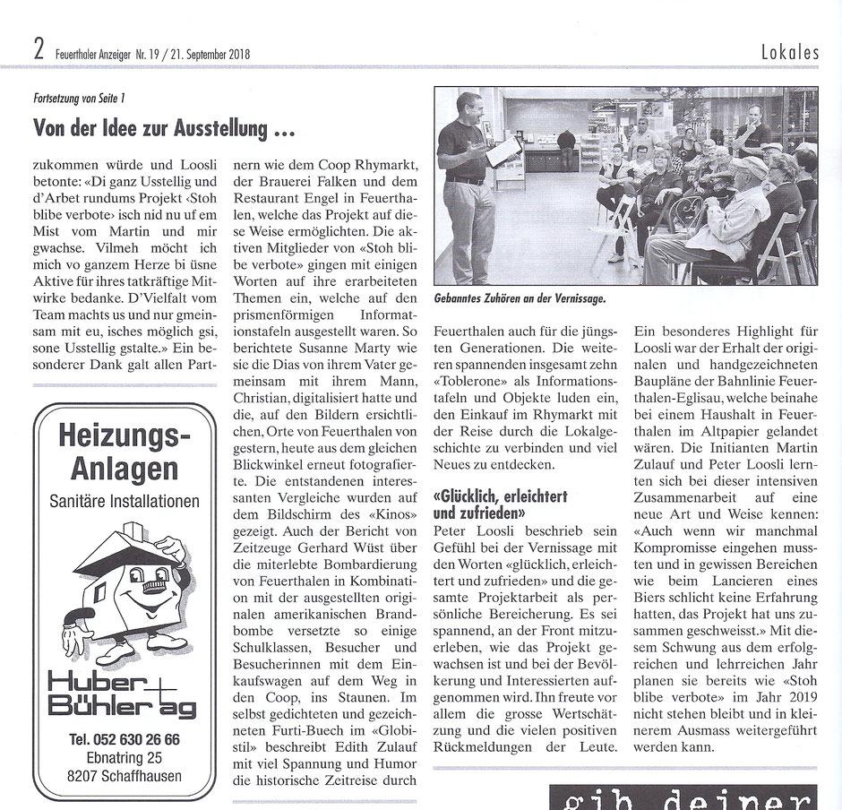 Feuerthaler Anzeiger 21.09.2018