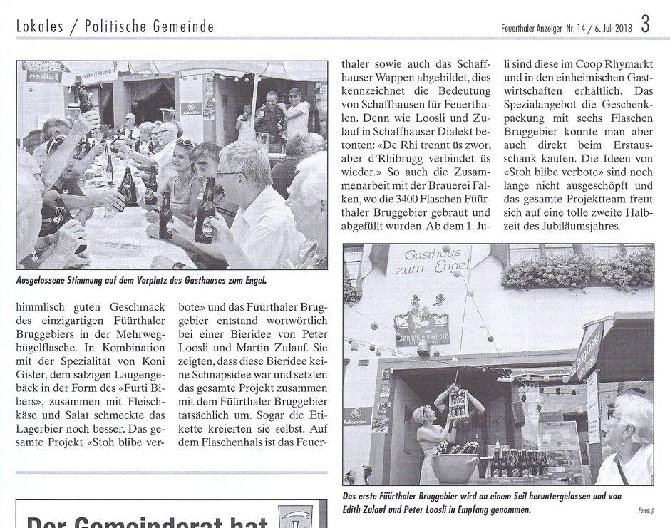 Füürthaler Bruggebier Erstausschank Gasthaus zum Engel, 30.06.2018