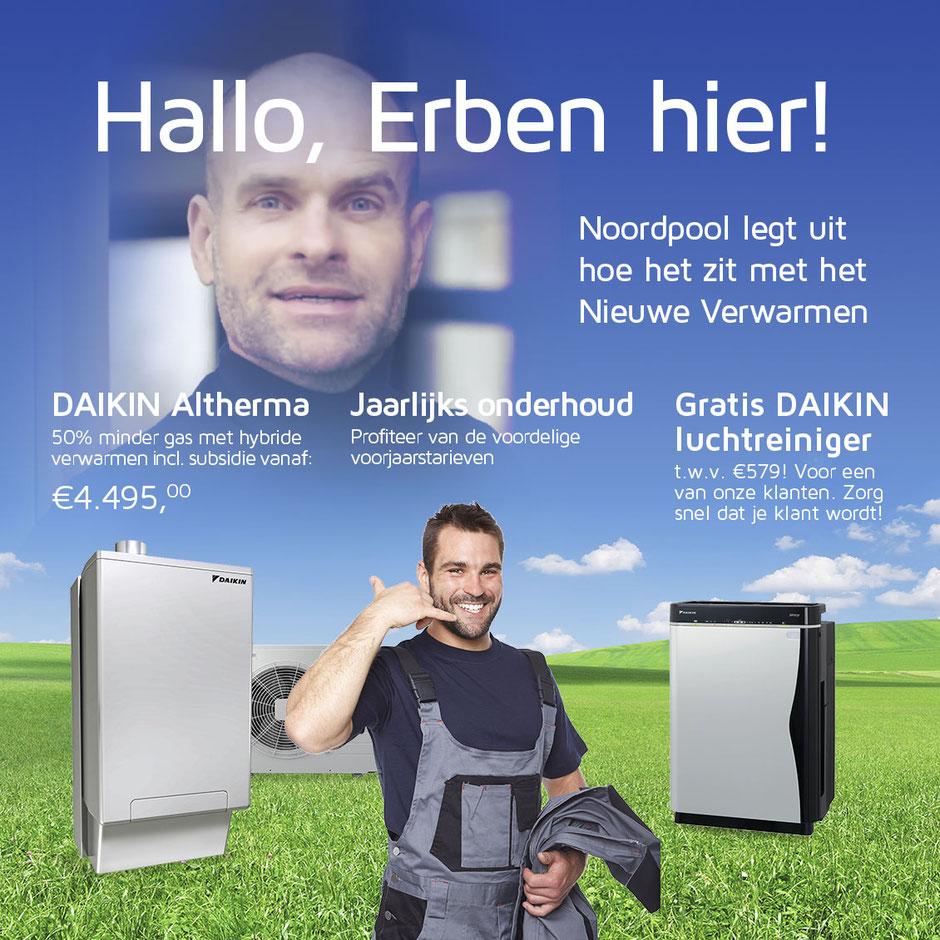 Erben Wennemars - Daikin Altherma Hybride - Jaarlijks onderhoud - Gratis Daikin Luchtreiniger
