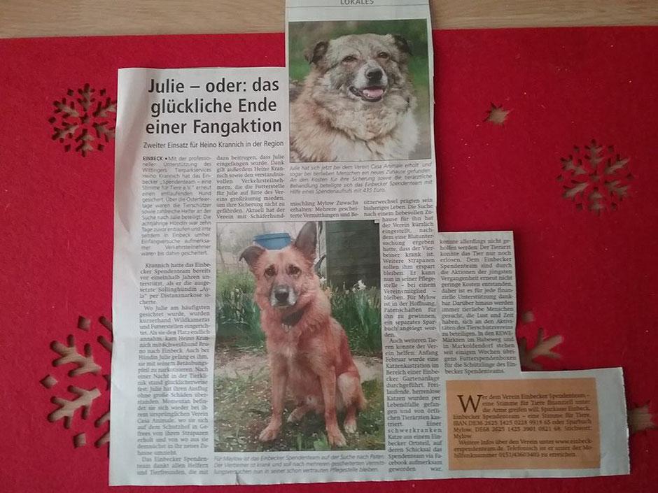 Artikel in der Einbecker Eule vom 12.05.17