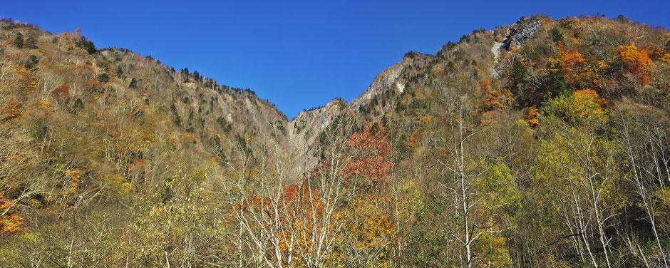 大谷嶺登山道より大谷崩