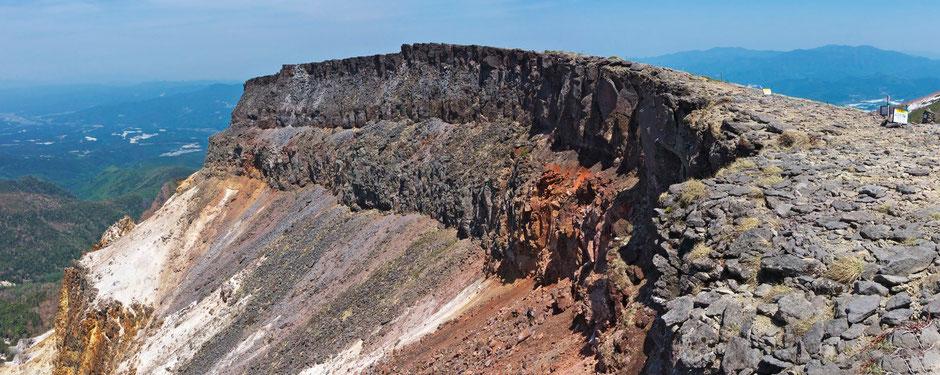硫黄岳 爆裂口