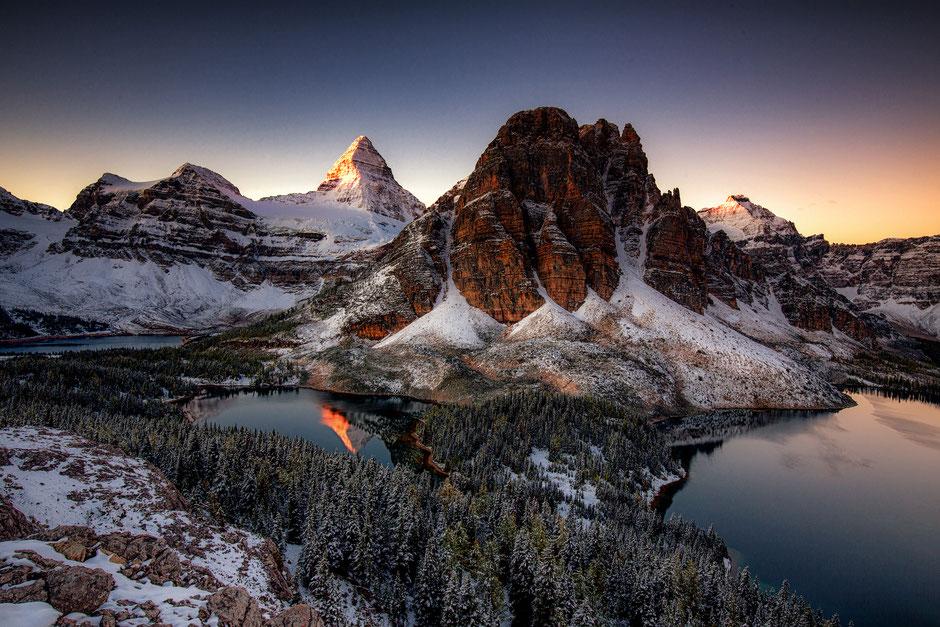 Mount Assiniboine from Nub Peak. Mount Assiniboine Photography workshop