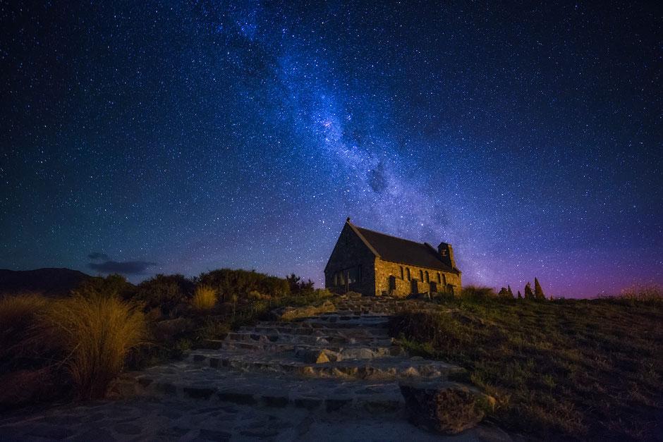 Starry night in Tekapo. New Zealand Photography Workshop