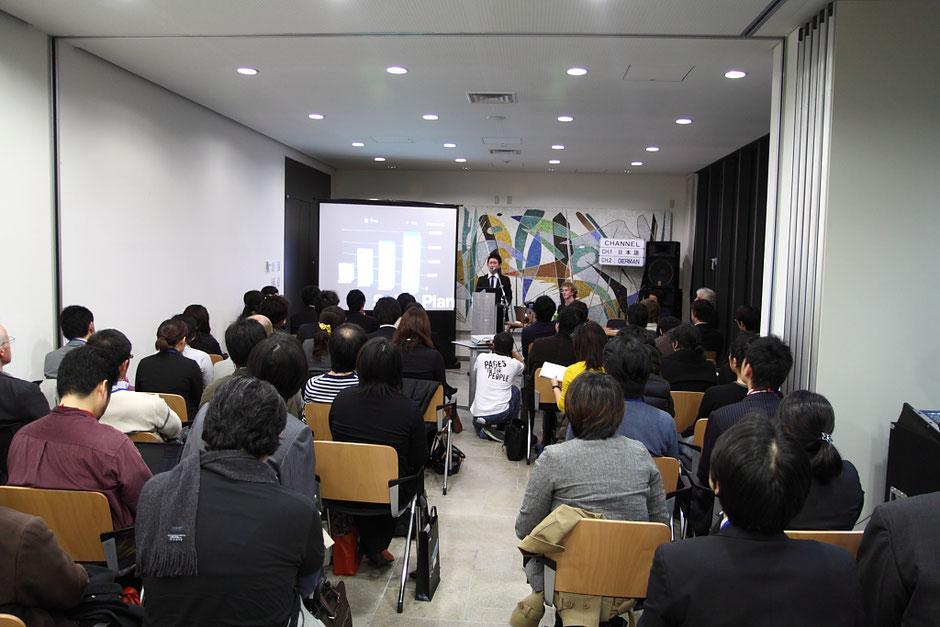 ドイツ大使館でおこなったジンドゥーを日本でリリースすることを発表した記者発表