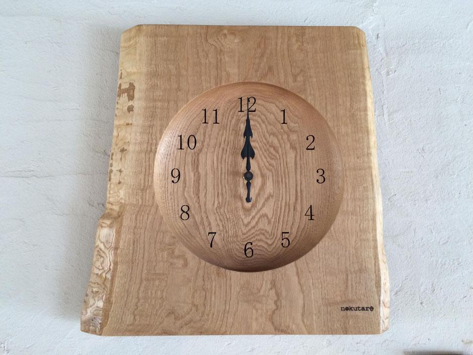 壁掛け時計 ウォールクロック 時計 木 ぬくもり 新築 結婚 お祝い 飛騨高山