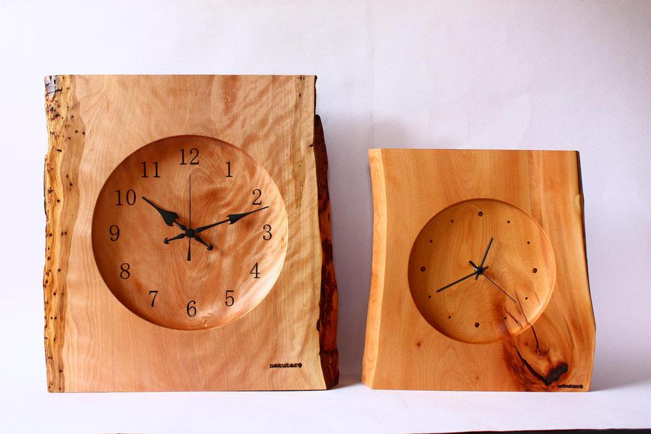壁掛け時計 ウォールクロック 木 時計 ナチュラル ぬくもり 壁面 部屋広さ 飛騨高山
