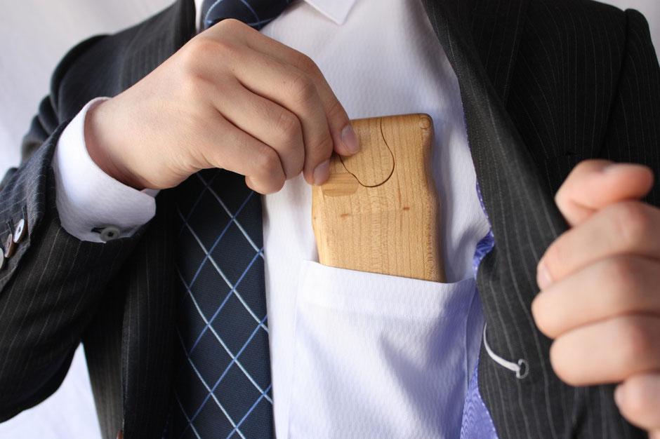 名刺入れ カードケース 木 ぬくもり 名刺交換 インパクト 印象 飛騨高山