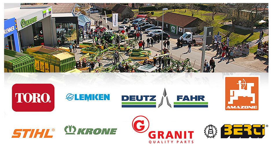 Unsere Partner in der Landtechnik: Toro, Lemken, Deutz-Fahr, Amazone, Stihl, KRONE, Granit, ISEKI u.v.m.