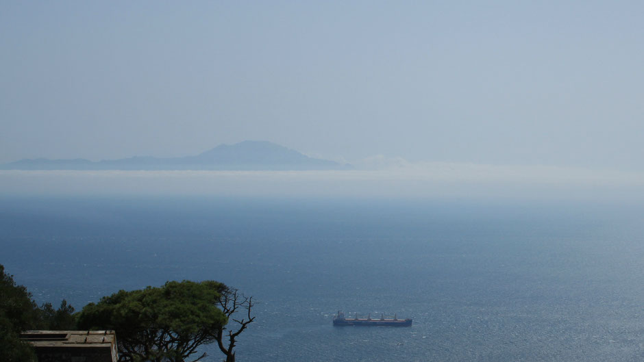 View on Africa from Gibraltar