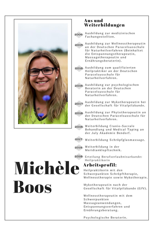 Lebenslauf Heilpraktikerin Michèle Boos