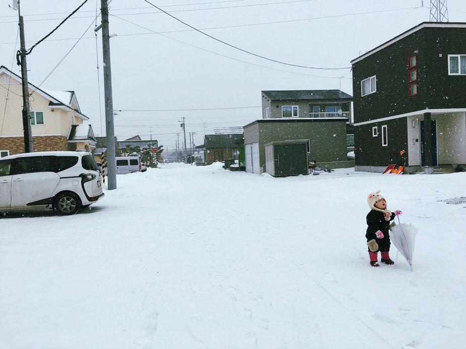 栗山町 雪景色