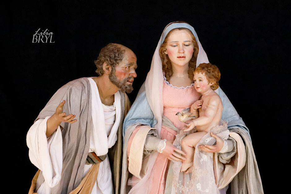 Natività in stile '700 napoletano. Pastori artistici di Lilia Bryl'