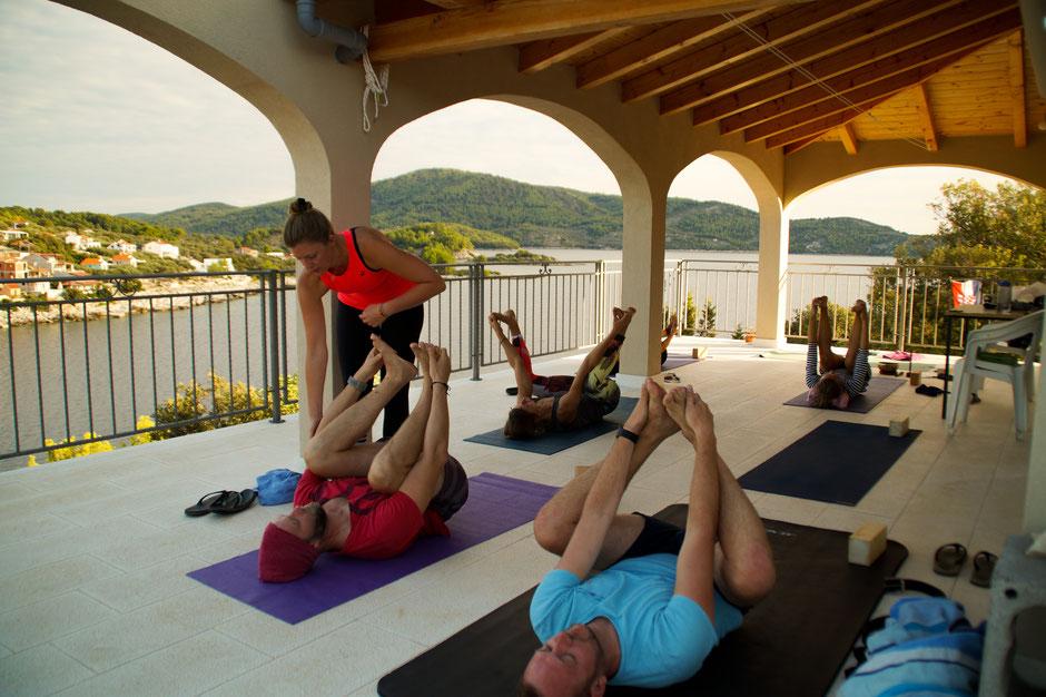 Yoga Yogaeinheit Meer Asana Urlaub Yogaurlaub Entspannung