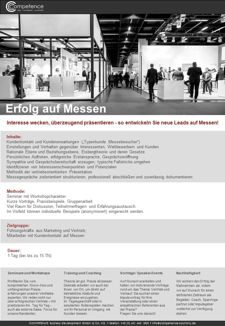 Seminar Compliance im Vertrieb