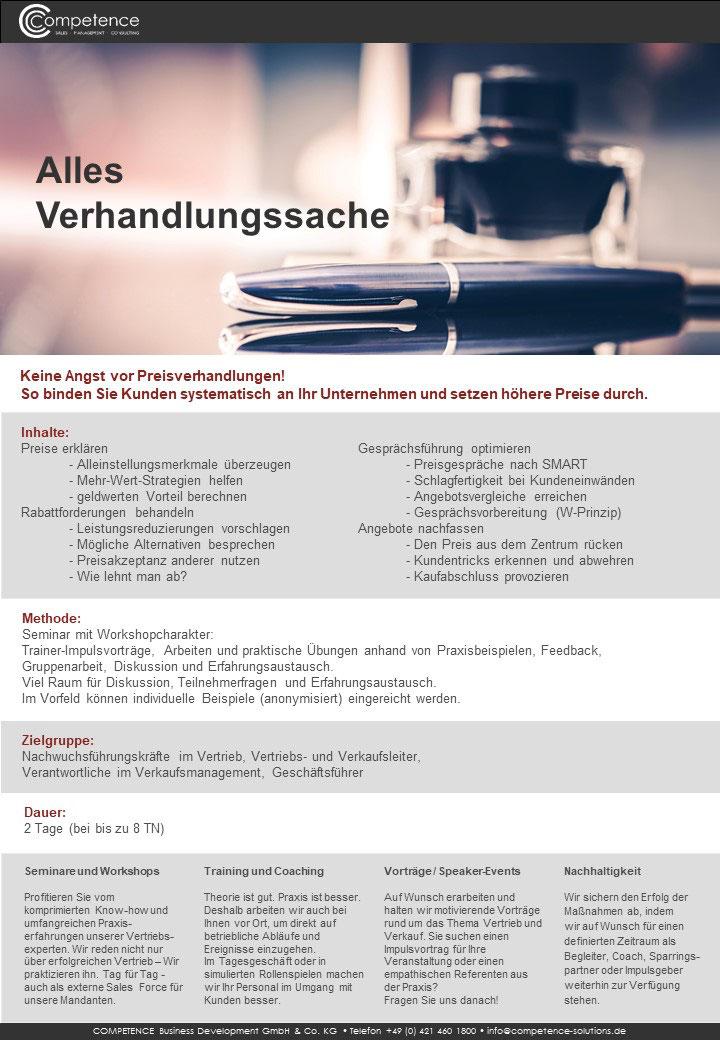 Seminar Verhandlungsführung
