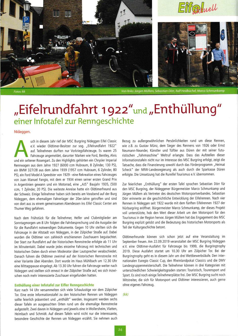 Eifel Aktuell/ August 2019